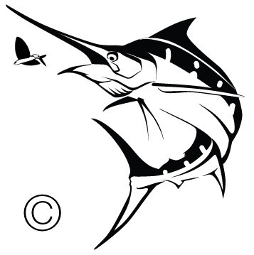 357x359 Sportfishing Yacht Vector Marine Wildlife Fine Art, Custom