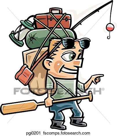 404x470 Clipart Of A Man Going On A Fishing Trip Pgi0201