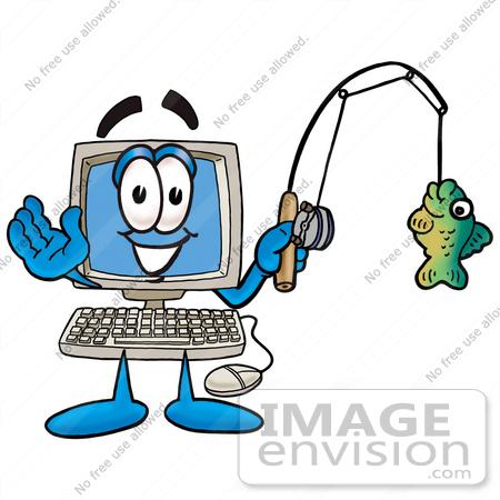 450x450 Cliprt Graphic Of Desktop Computer Cartoon Character Holding