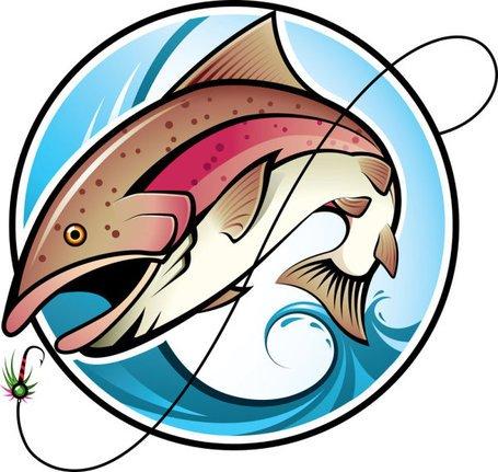 455x431 Fishing Cartoon Image 02, Vector Image
