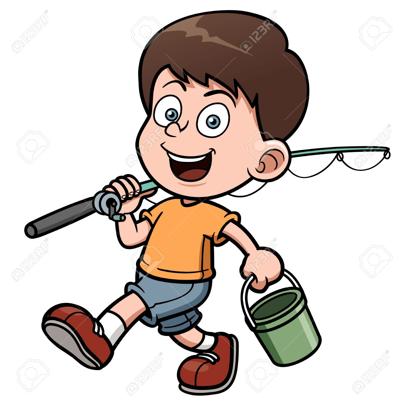 1300x1300 Gone Fishing Cartoon Clipart Images