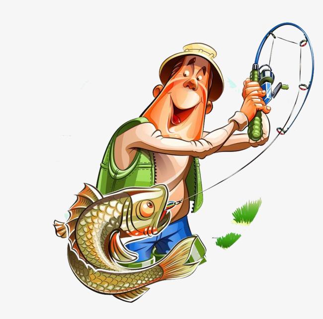 650x642 Cartoon Fishing Man, Cartoon, Fishing, Fish Png Image For Free