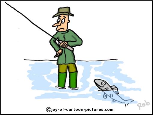 510x384 Fly Fishing Cartoon,cartoon Fishing Picture