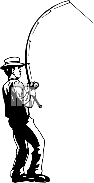 186x361 Fishing Pole Black And White Clipart Panda