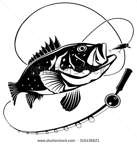 450x470 Fishing Rod Clipart Bass Fishing
