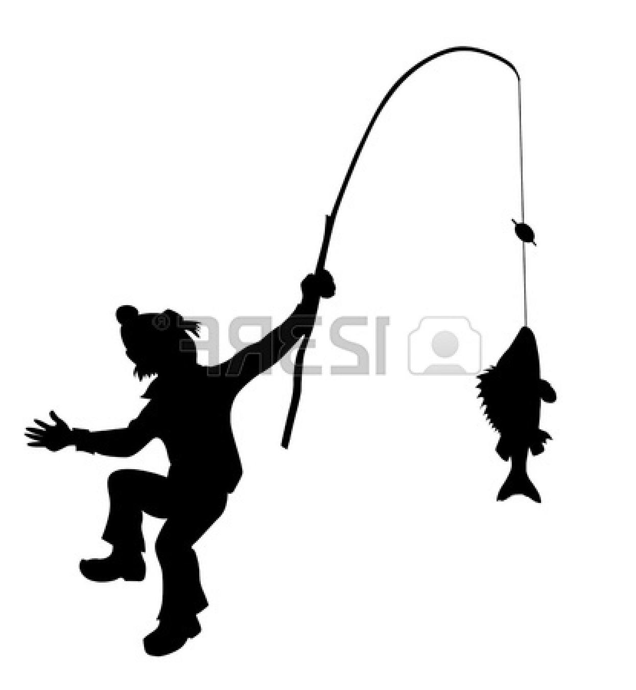 1245x1350 Best Fishing Pole Black And White Silhouette Fisherman