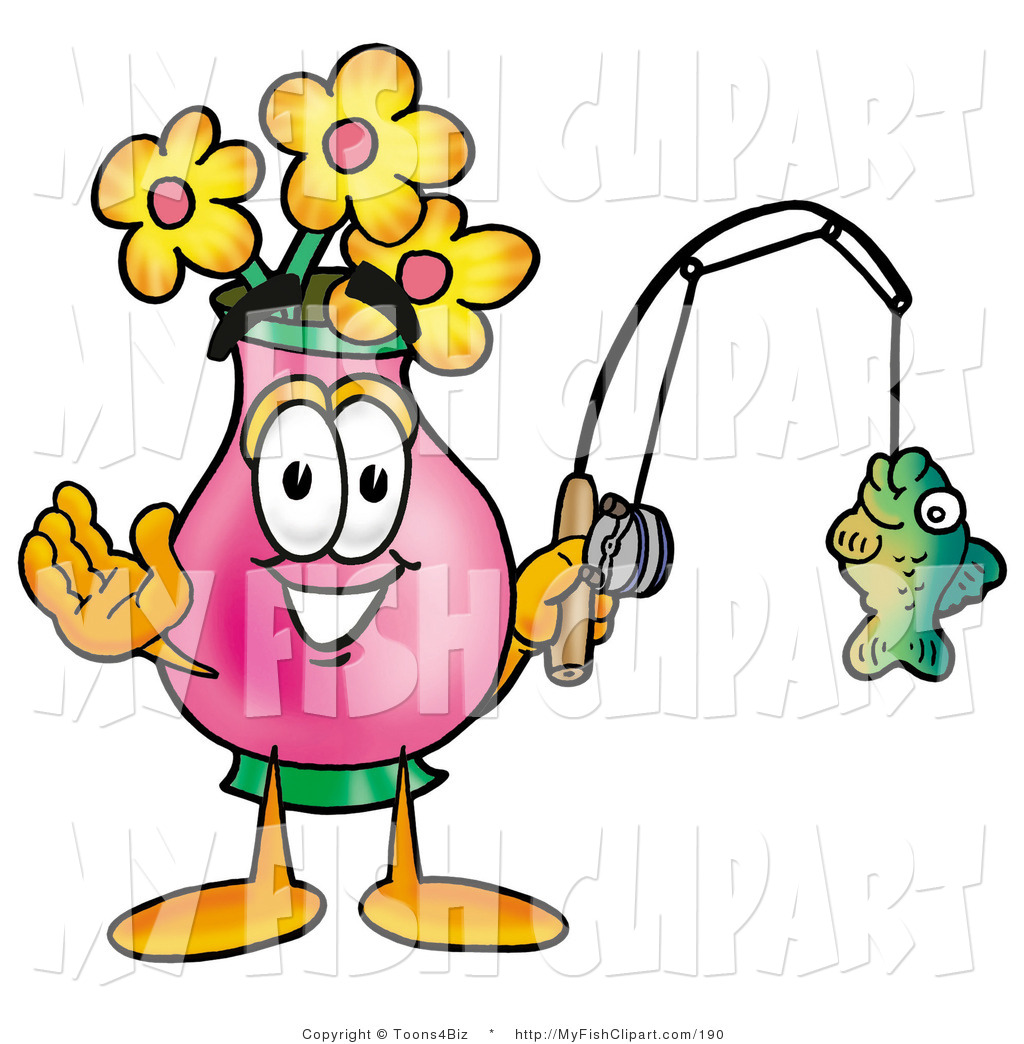 1024x1044 Clip Art Of A Pink Vase Of Flowers Mascot Cartoon Character