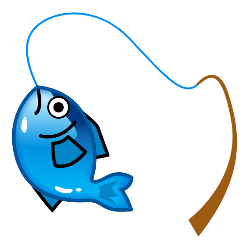 512x512 Fishing Pole And Fish Emoji For Facebook, Email Amp Sms Id  11695