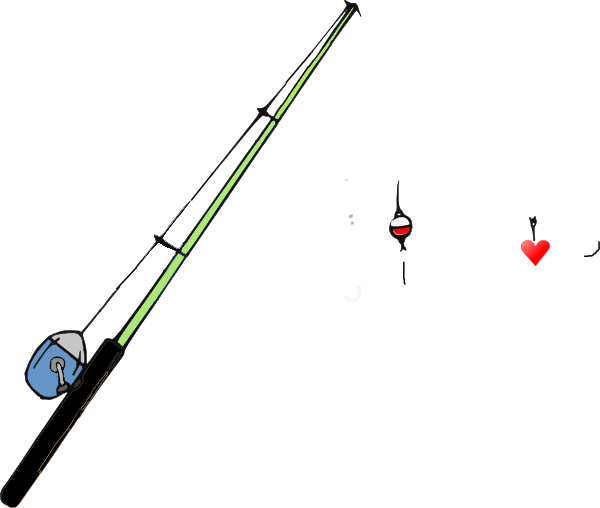 600x508 Fishing Pole Heart Clip Art