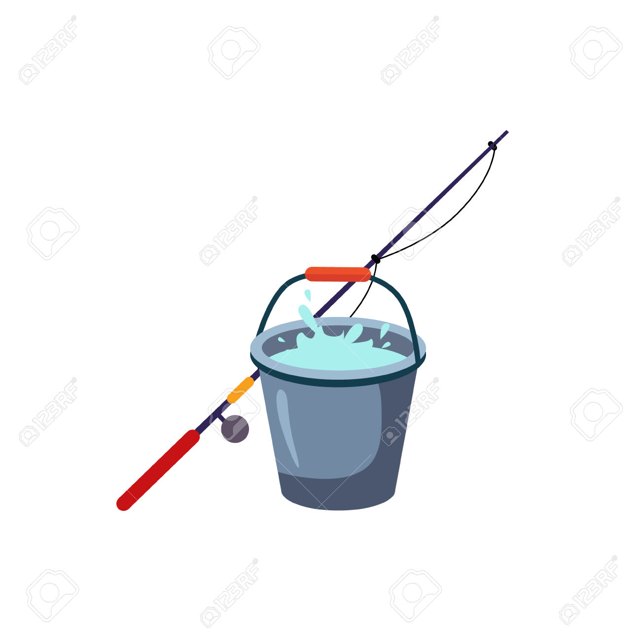 1300x1300 Fishing Clipart Bucket