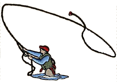 396x278 Fishing Rod Clipart Trout Fishing