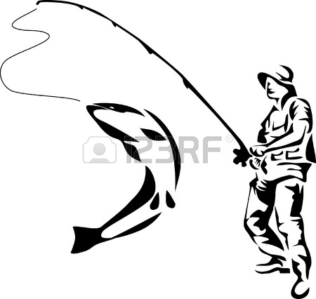 450x426 Fly Fishing Clipart
