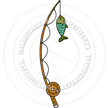 460x460 Cartoon Fishing Pole Vector Illustration By Clip Art Guy Toon