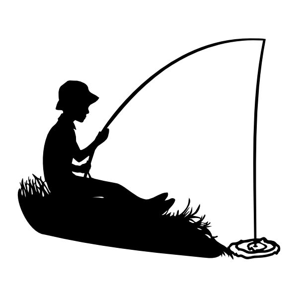 600x600 Fishing Rod Clipart Boat Silhouette