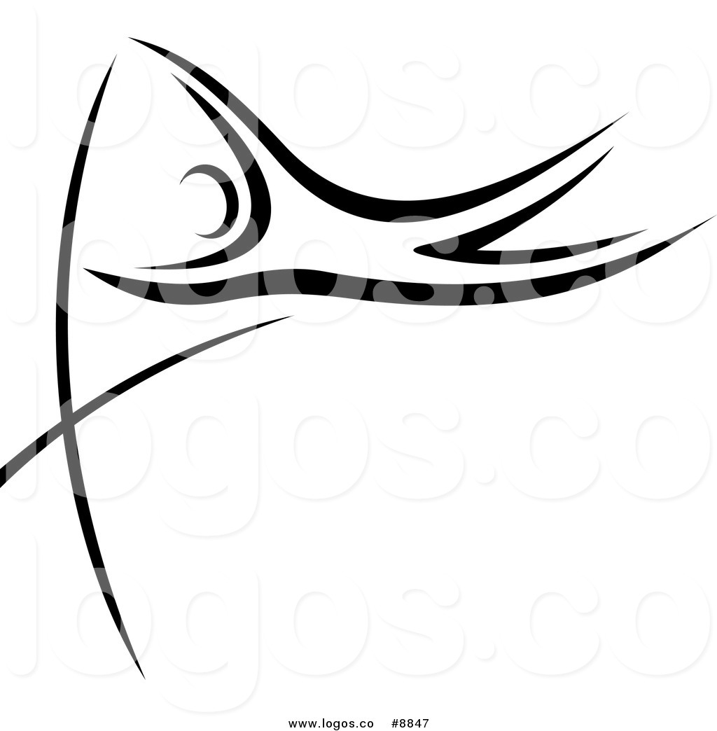 1024x1044 Royalty Free Clip Art Vector Logo Of A Black And White Pole