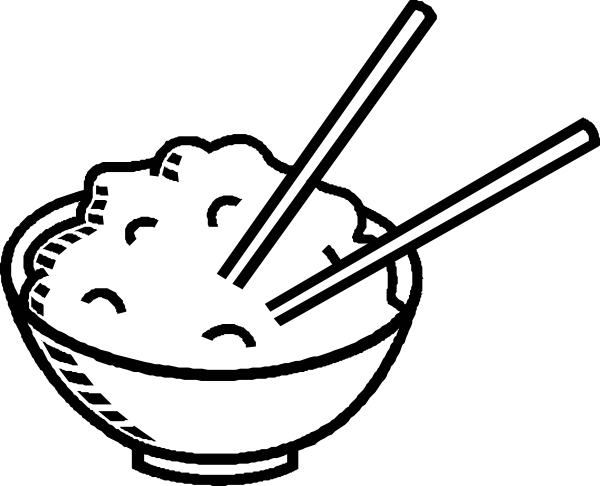 600x486 Clip Art Black And White Rice Bowl Black And White Clip Art