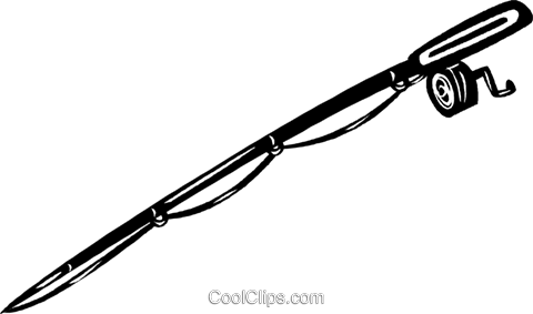 480x283 Fishing Pole Royalty Free Vector Clip Art Illustration Vc040557