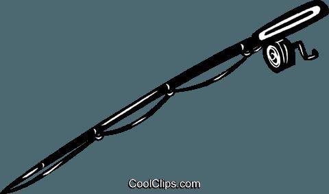 480x283 Fishing Pole Royalty Free Vector Clip Art Illustration Vc040557