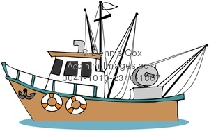 300x189 Boat Clipart Fishing