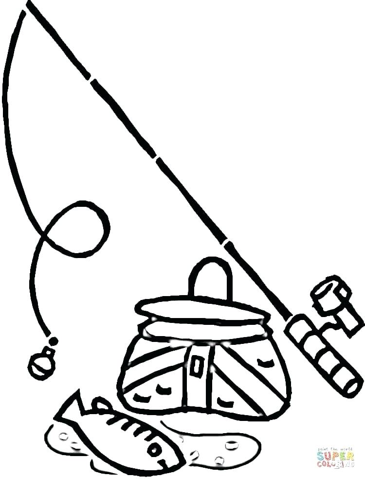 750x982 Fishing Pole Coloring Pages Page Trend Medium Size Fish Image