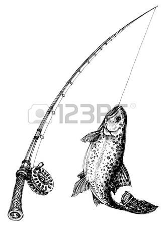326x450 Fishing Rod Fish Isolated Royalty Free Cliparts, Vectors,