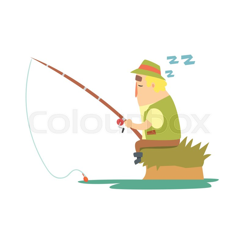 800x800 Amateur Fisherman In Khaki Clothes Sleeping On River Bank