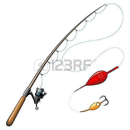 450x450 Vector Fishing Rods. Catch And Hobby, Sport Equipment, Fish Hook