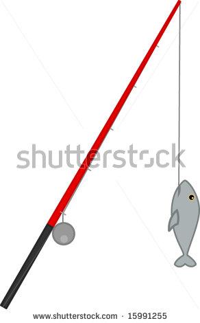 292x470 Fishing Rod Clipart Fish