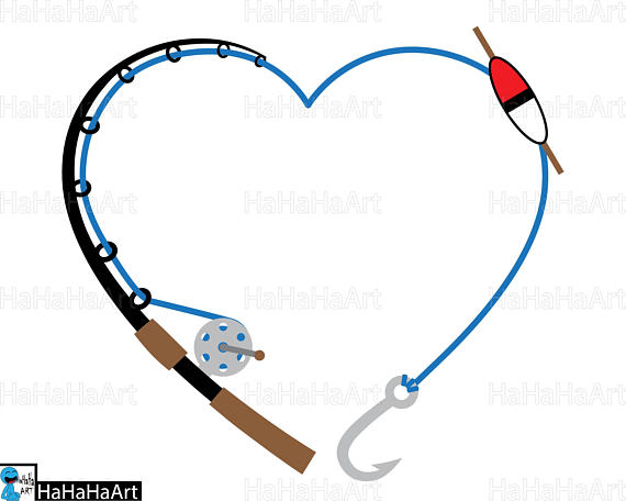 570x456 Heart Fishing Rod Clipart Cutting Files Svg Png Jpg Dxf