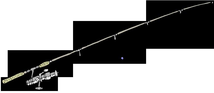750x328 Fishing Rod Clip Art