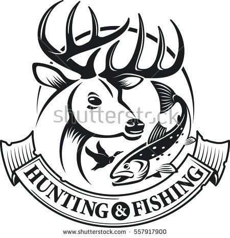450x466 Fishing Clipart Hunting And Fishing