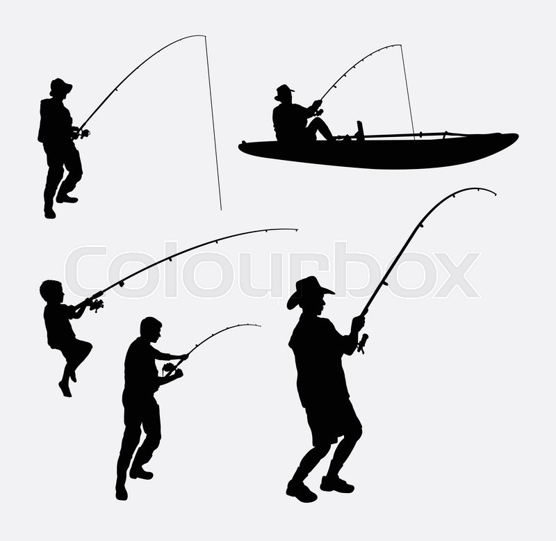 800x778 Fishing People Silhouettes. Good Use For Symbol, Logo, Web Icon