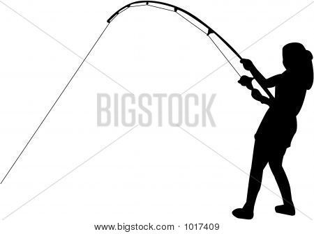 Fishing Pole Silhouette