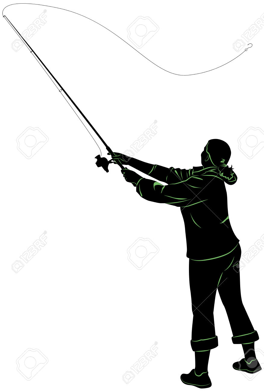 876x1300 Fishing Rod Clipart Person Fishing