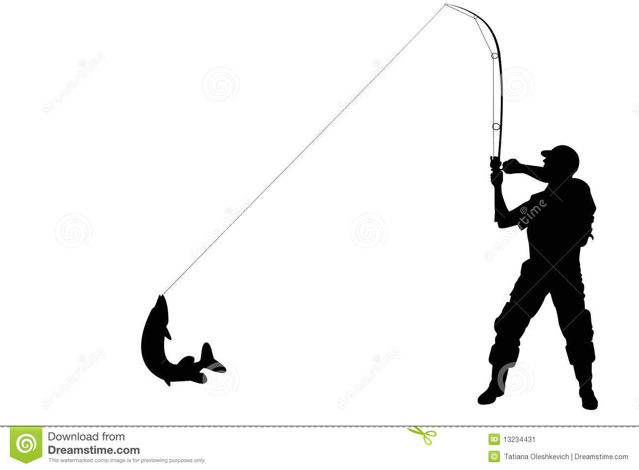 1300x957 Man Fishing Silhouette Clipart