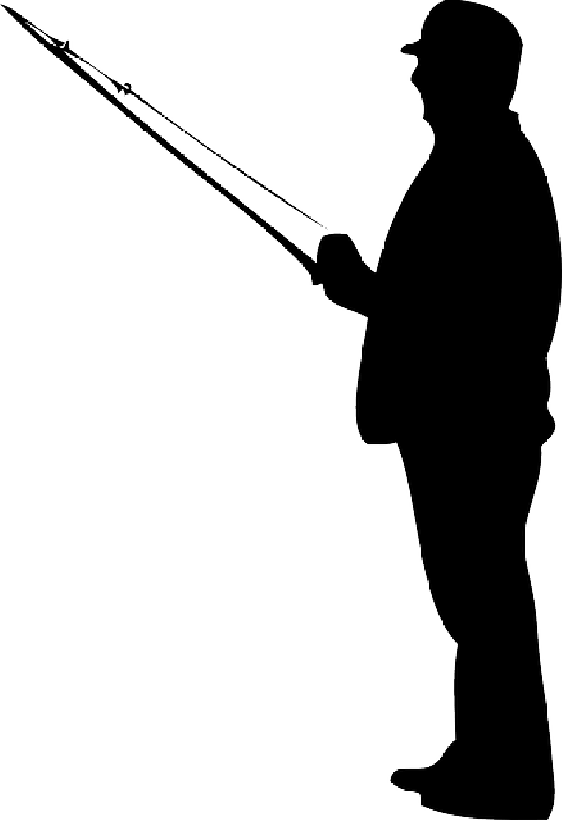 800x1168 Silhouette, Sport, Fisherman, Standing, Fishing, Rod
