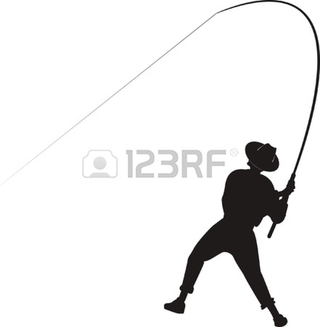 1323x1350 Silhouette Fisherman Clipart