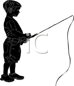 258x300 Silhouette Of A Boy Fishing