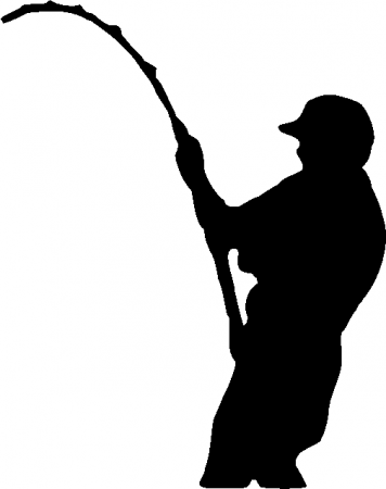 356x450 Fishing Pole Clipart Black And White Archives