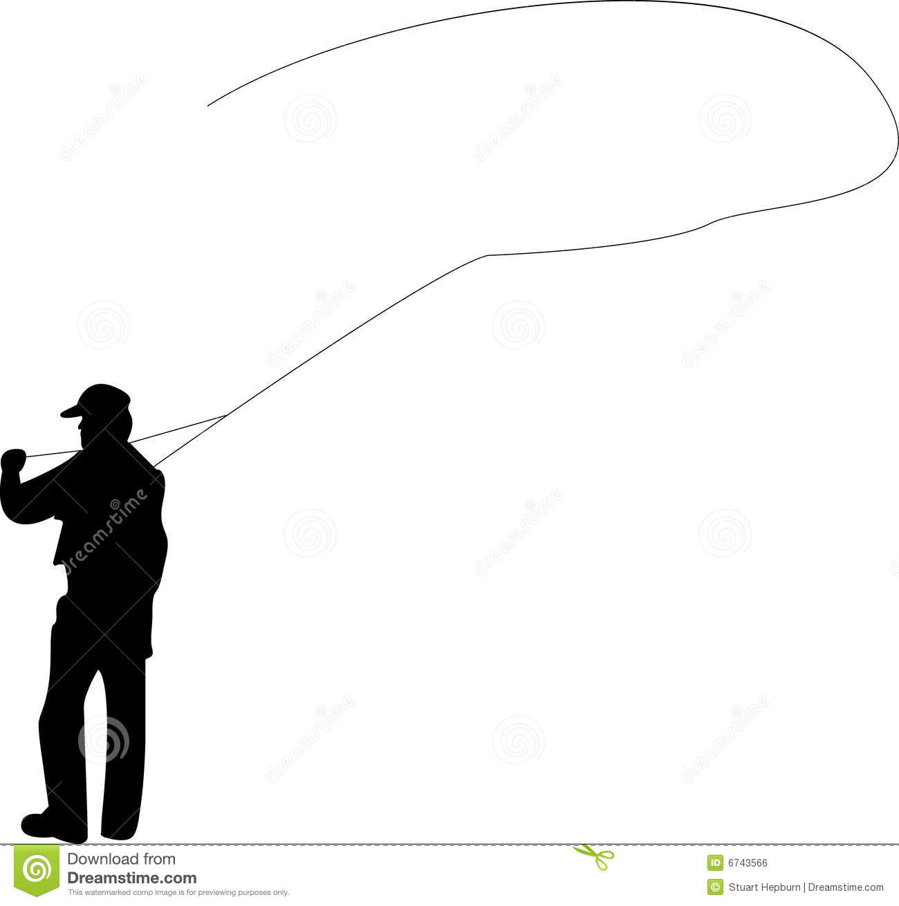 1300x1310 Clipart Of Fly Fishing