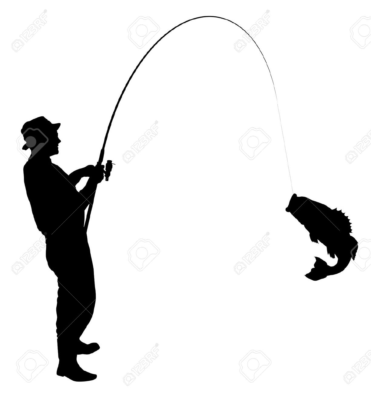1225x1300 Fishing Pole Silhouette Clipart
