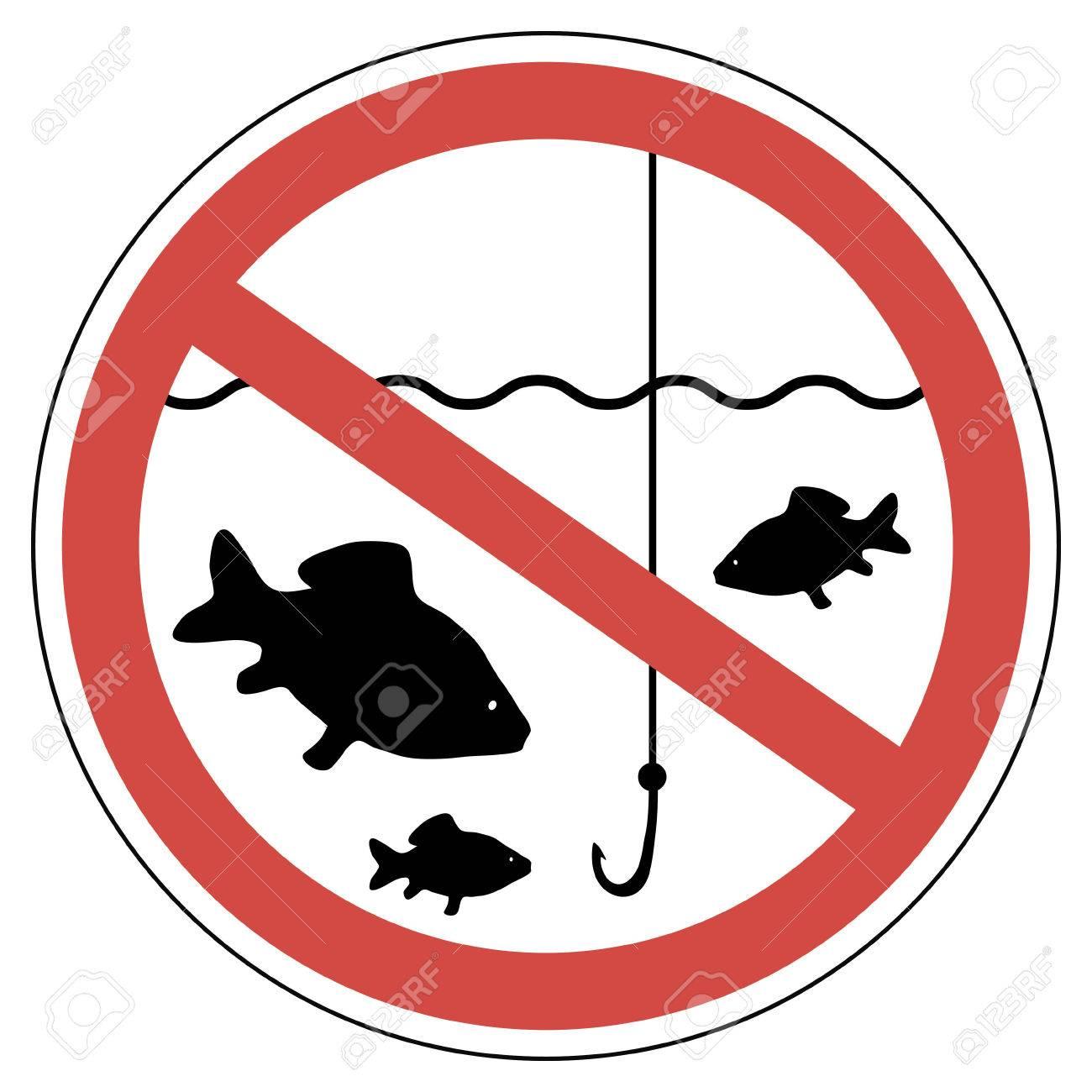 1300x1300 283 No Fishing Stock Vector Illustration And Royalty Free No