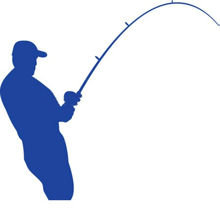 450x430 Fishing Rod Clipart Bent