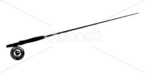 480x242 Fly Fishing Pole Vector