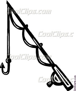 250x300 Fishing Rod Vector Clip Art