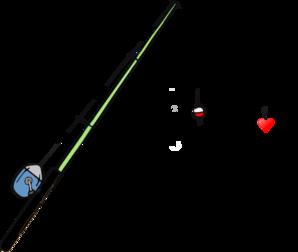 298x252 Fishing Pole Heart Clip Art