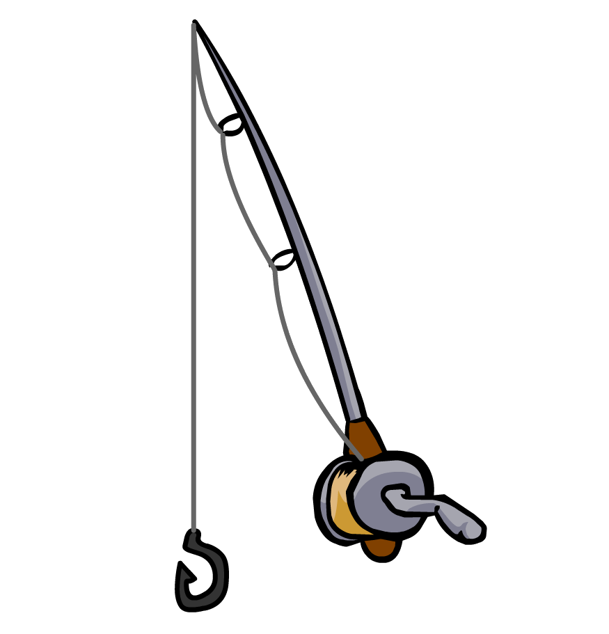 875x911 Hook Clipart Fishing Rod