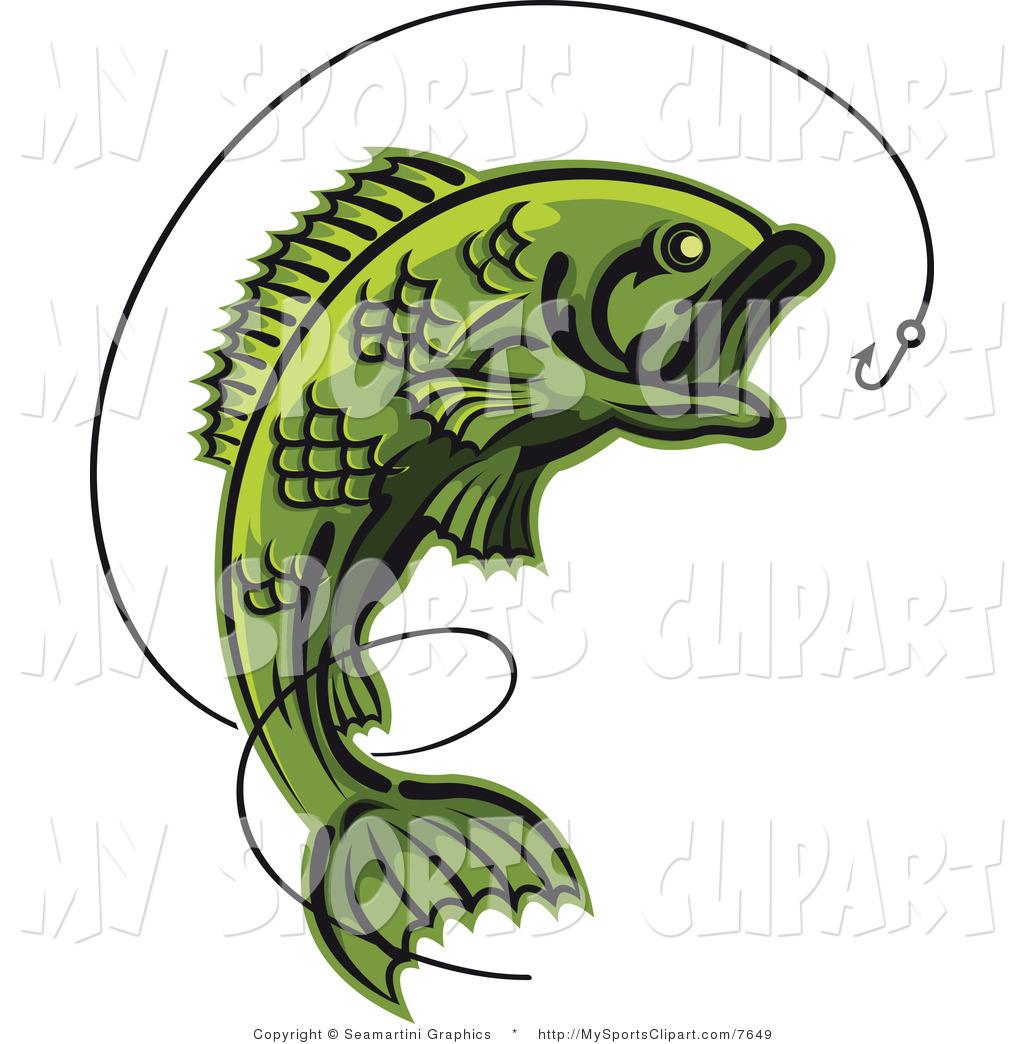 1024x1044 Fish On A Line Clip Art