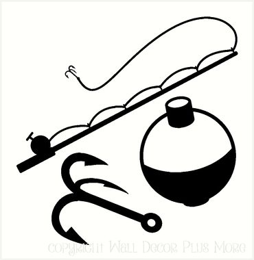 370x380 Fishing Rod Clipart Silhouette