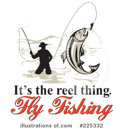 400x420 Fly Fishing Clipart